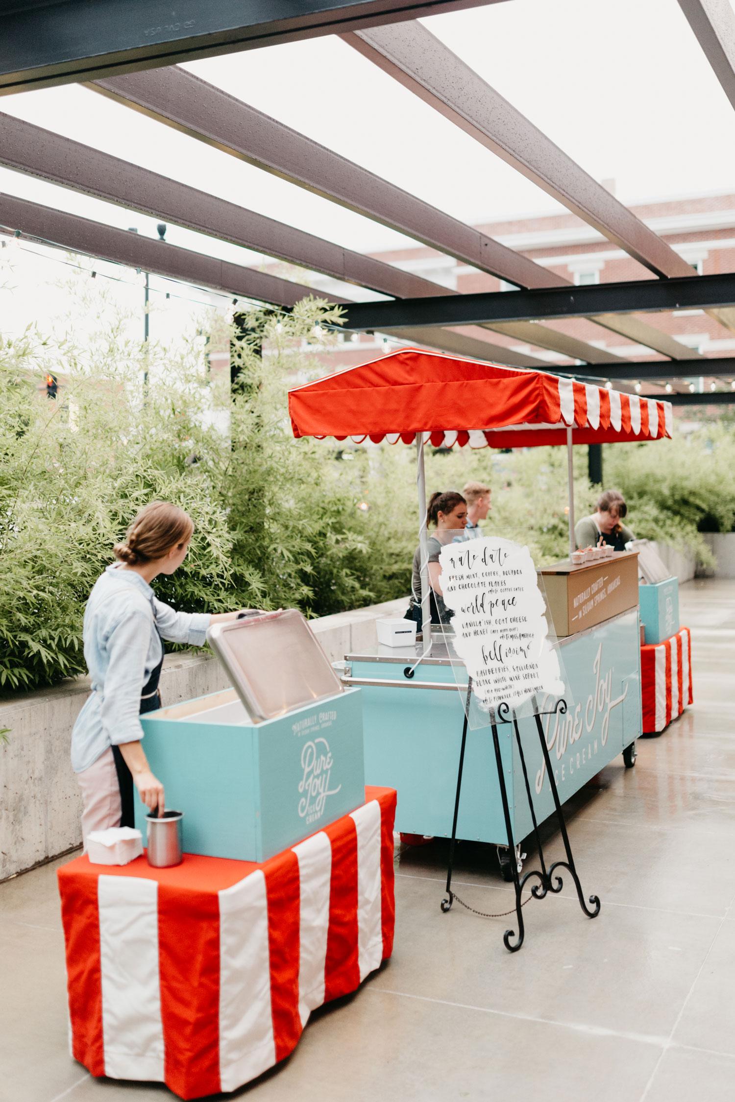 wedding reception ice cream station red white blue fourth of july wedding ideas