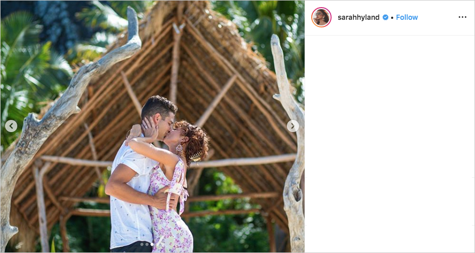 Sarah Hyland & Wells Adams engagement, Sarah Hyland engagement ring, Wells Adams proposal