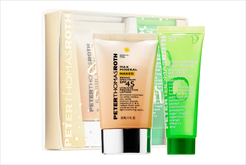 summer beauty products for brides summer all stars peter thomas roth max mineral naked broad spectrum spf 45 and cucumber gel mask extreme de-tox hydrator