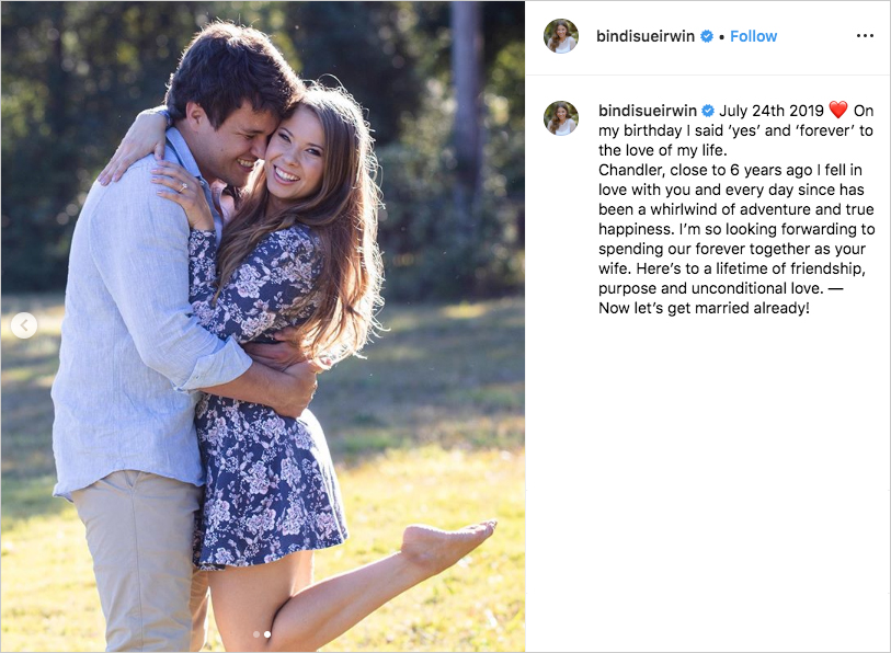 bindi irwin engagement ring, bindi irwin engaged to chandler powell, bindi irwin engagement photos