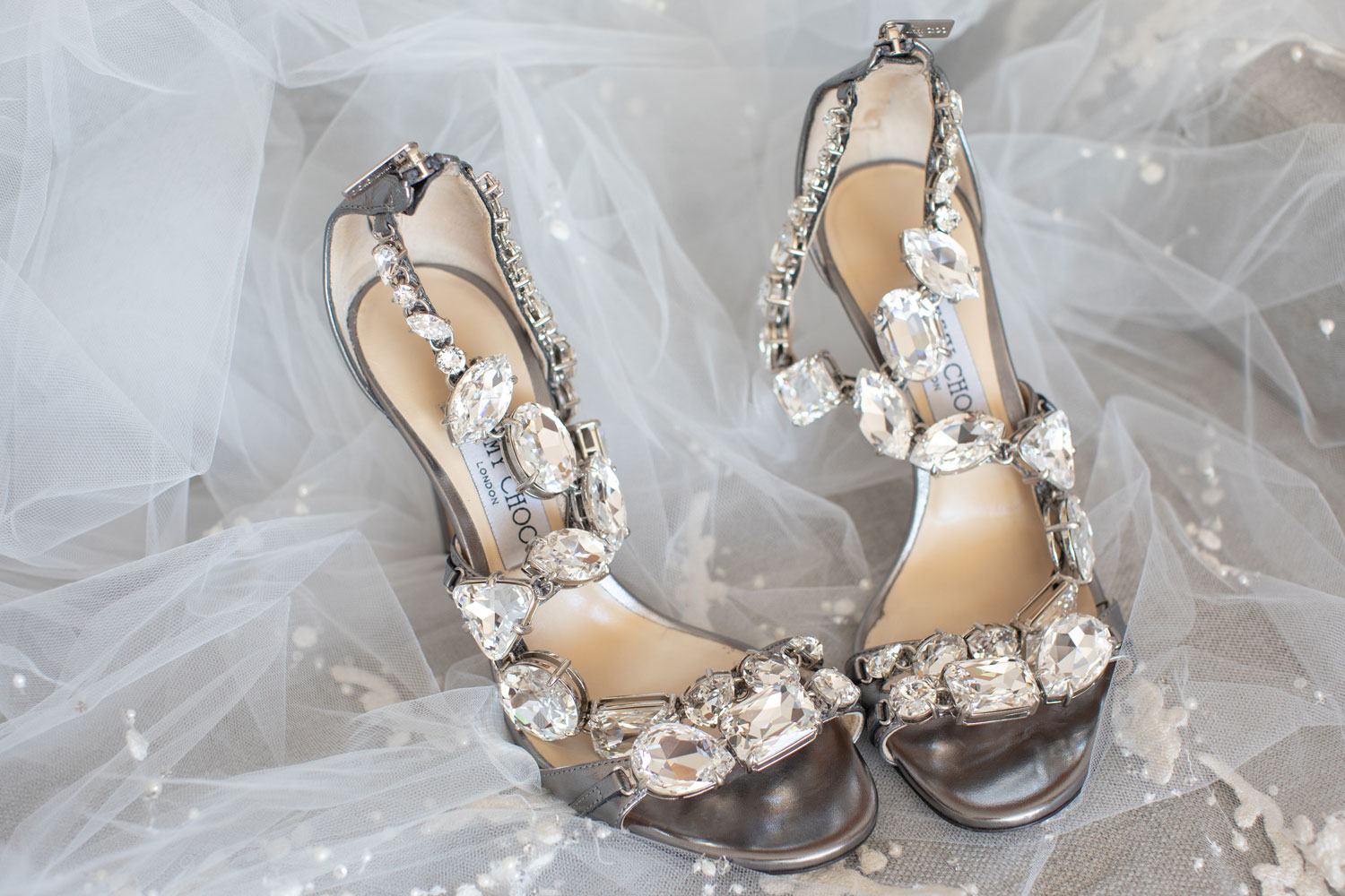 wedding inspiration shoot with crystal sparkle wedding shoes jimmy choo