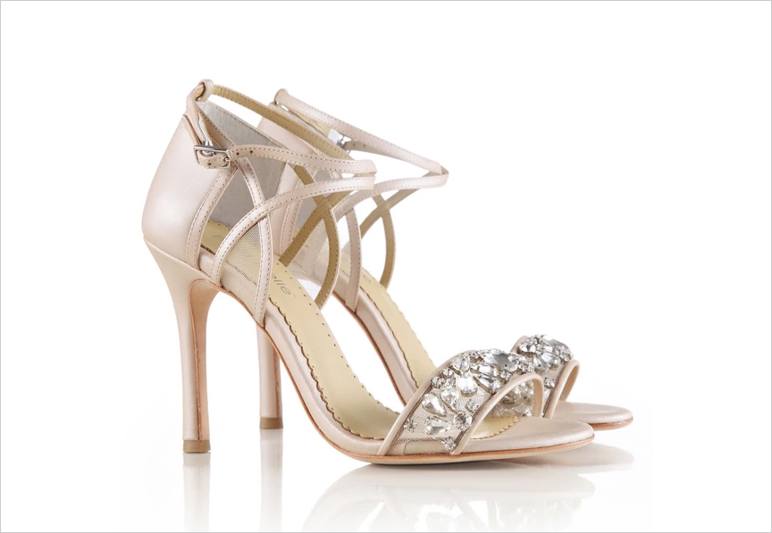 Filipa nude jewel toe shoes by Bella Belle Shoes wedding shoe ideas