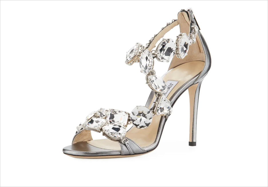 Karima crystal sandals by Jimmy Choo wedding shoes bridal shoe ideas