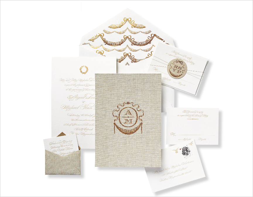 monogram wedding invitation fit for a queen invite from cheree berry paper