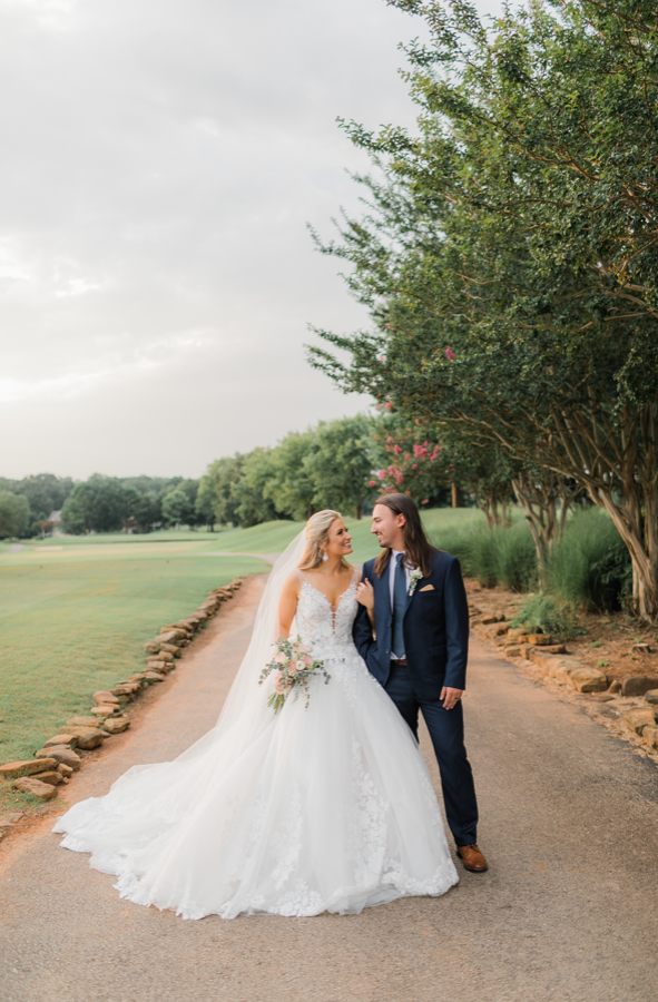 Rachel Wammack and Noah Purcell wedding day portrait