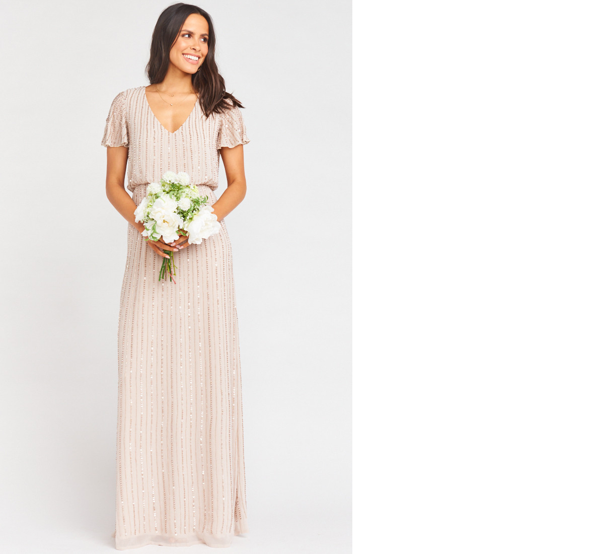 bridesmaid dress ideas michelle beaded maxi dress show me the ring show me your mumu