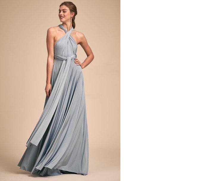 bridesmaid dress ideas ginger convertible maxi dress dusty blue twobirds bhldn