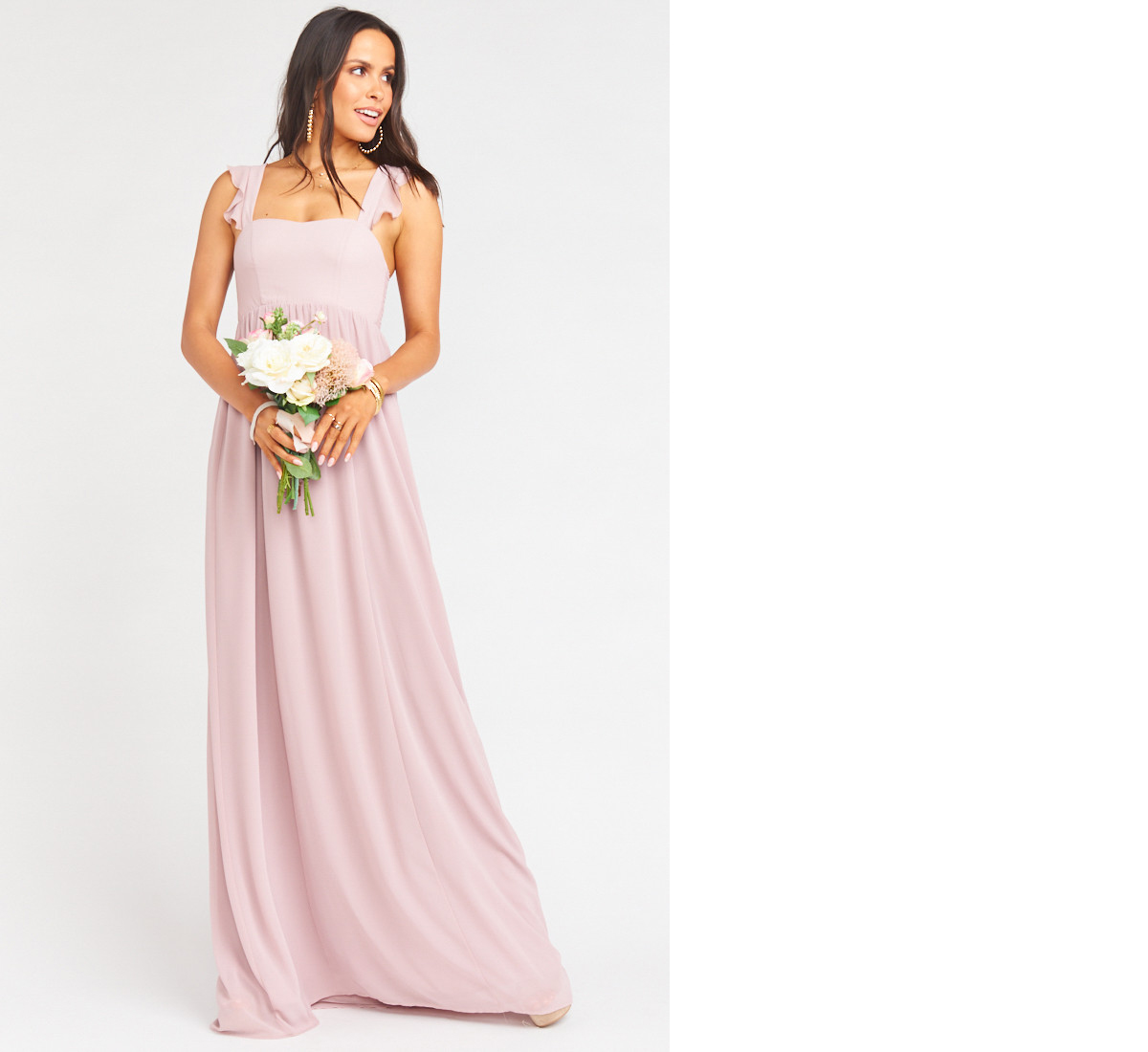 bridesmaid dress ideas june maxi dress mauve chiffon show me your mumu