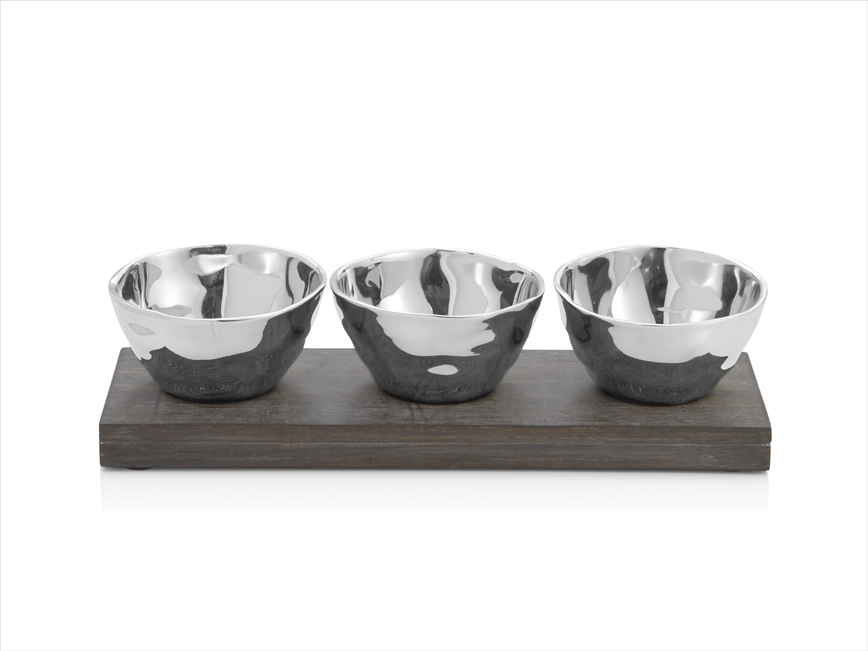michael aram ripple effect triple bowl set wedding registry ideas bloomingdale's