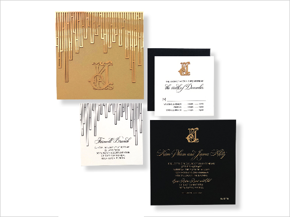 modern gold wedding invitation by redbliss design modern wedding invite ideas