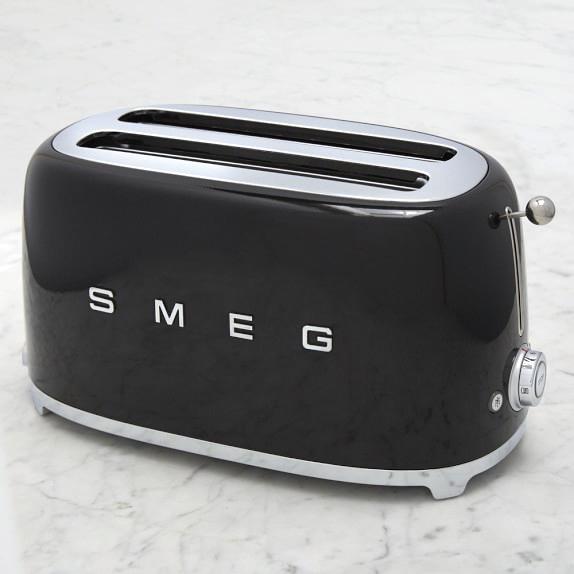 wedding registry ideas smeg four slice toaster vintage inspired williams-sonoma