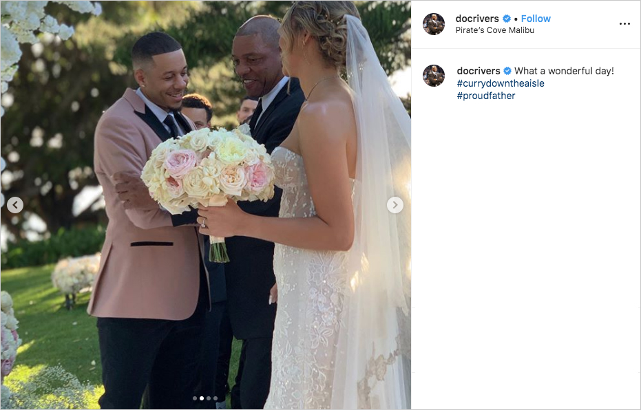 doc rivers giving daughter callie away to seth curry at wedding