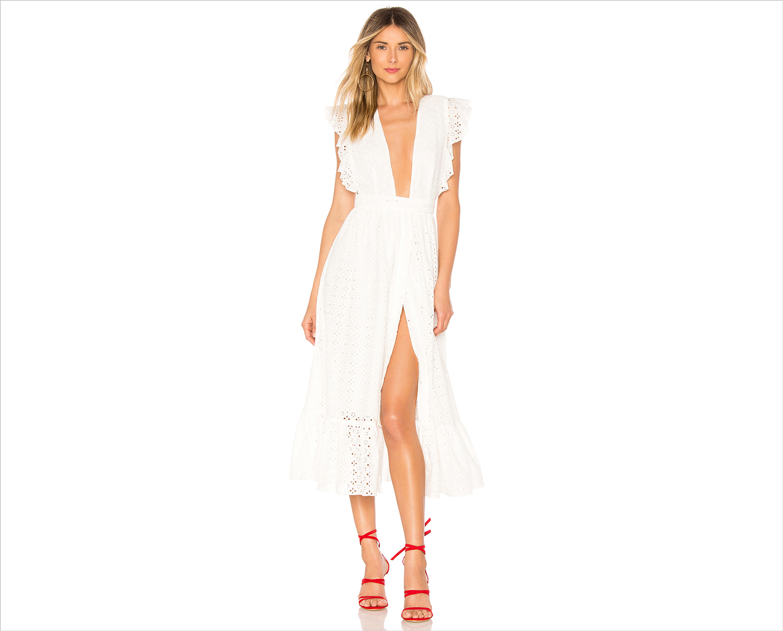 Mistwood dress by majorelle revolve white dress honeymoon dress ideas attire