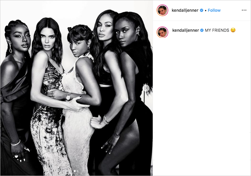 kendall jenner, justine skye, renell medrano, joan smalls, riley montana photo booth picture at justin bieber & hailey baldwin's wedding
