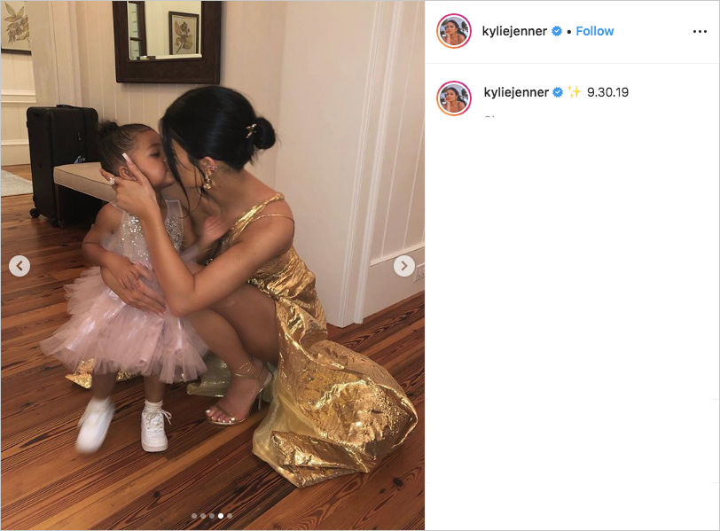 kylie jenner and stormi webster at justin bieber & hailey baldwin's wedding