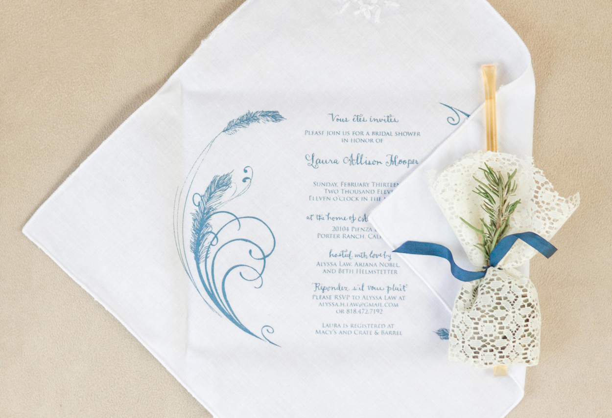 bridal shower invitation on handkerchief, who should you invite to your bridal shower?