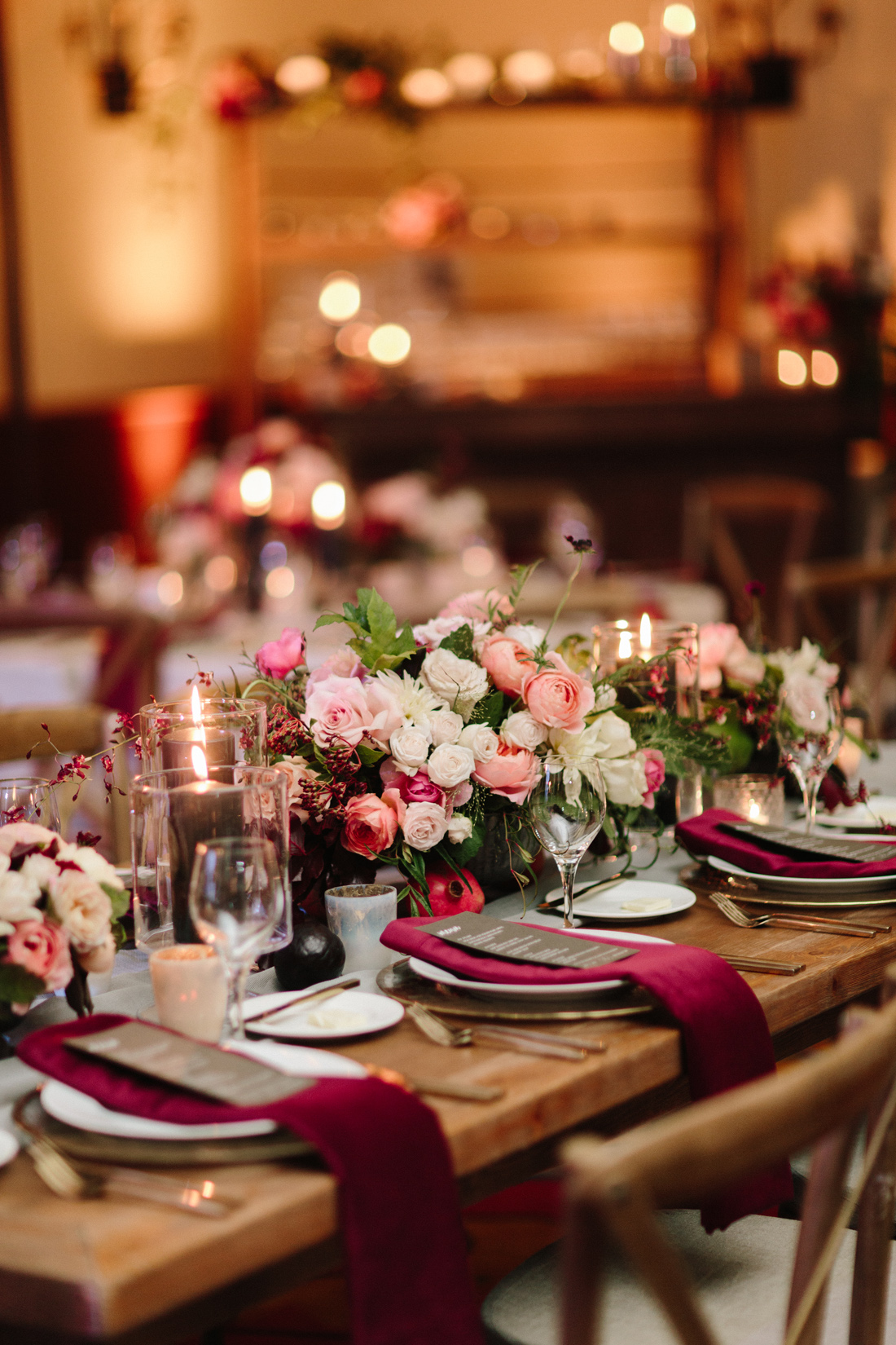 Fall-Inspired Wedding Reception Tablescapes