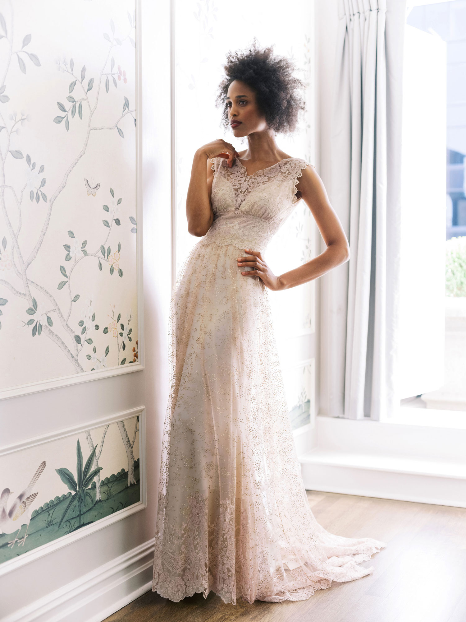 Claire Pettibone Evolution 2020 bridal collection Aurora wedding dress