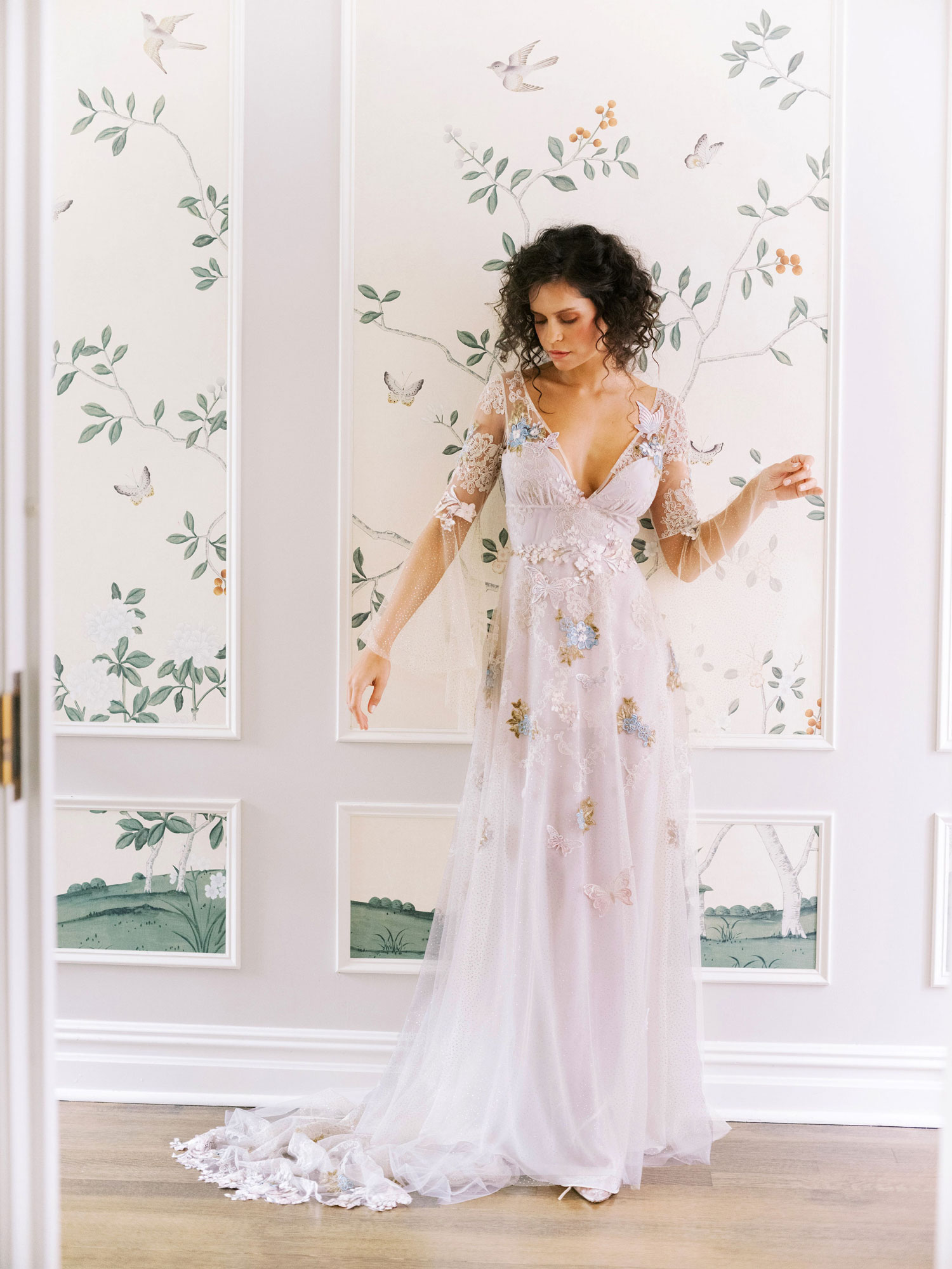 Claire Pettibone Evolution 2020 bridal collection Chrysalis romantic wedding dress