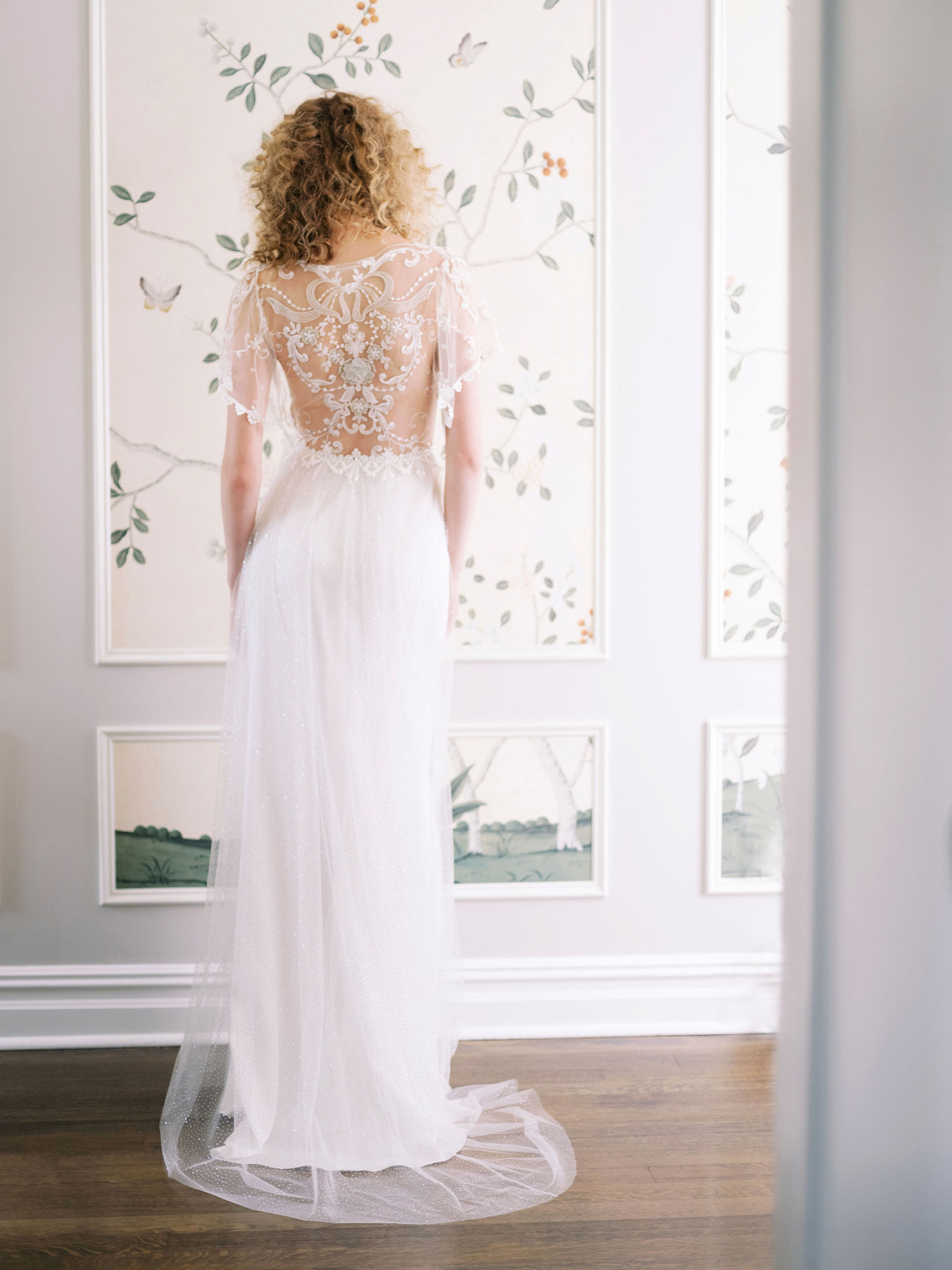 Claire Pettibone Evolution 2020 bridal collection back of Dawn wedding dress