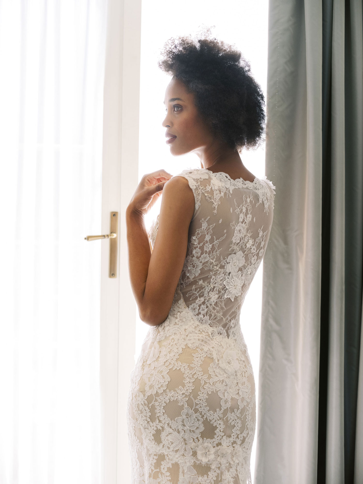 Claire Pettibone Evolution 2020 bridal collection Leila lace wedding dress