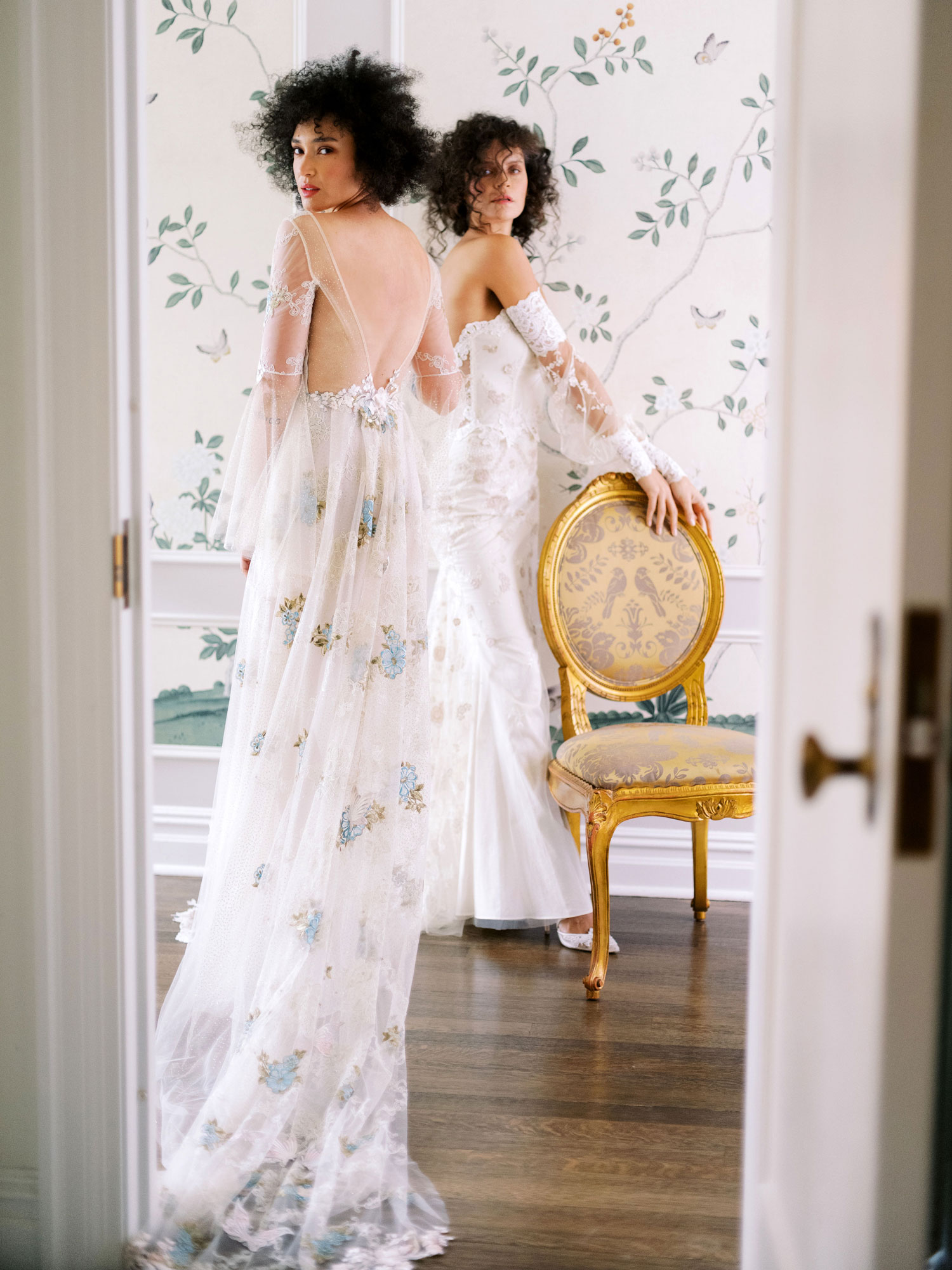 Claire Pettibone Evolution 2020 bridal collection Chrysalis and Lyra wedding dresses