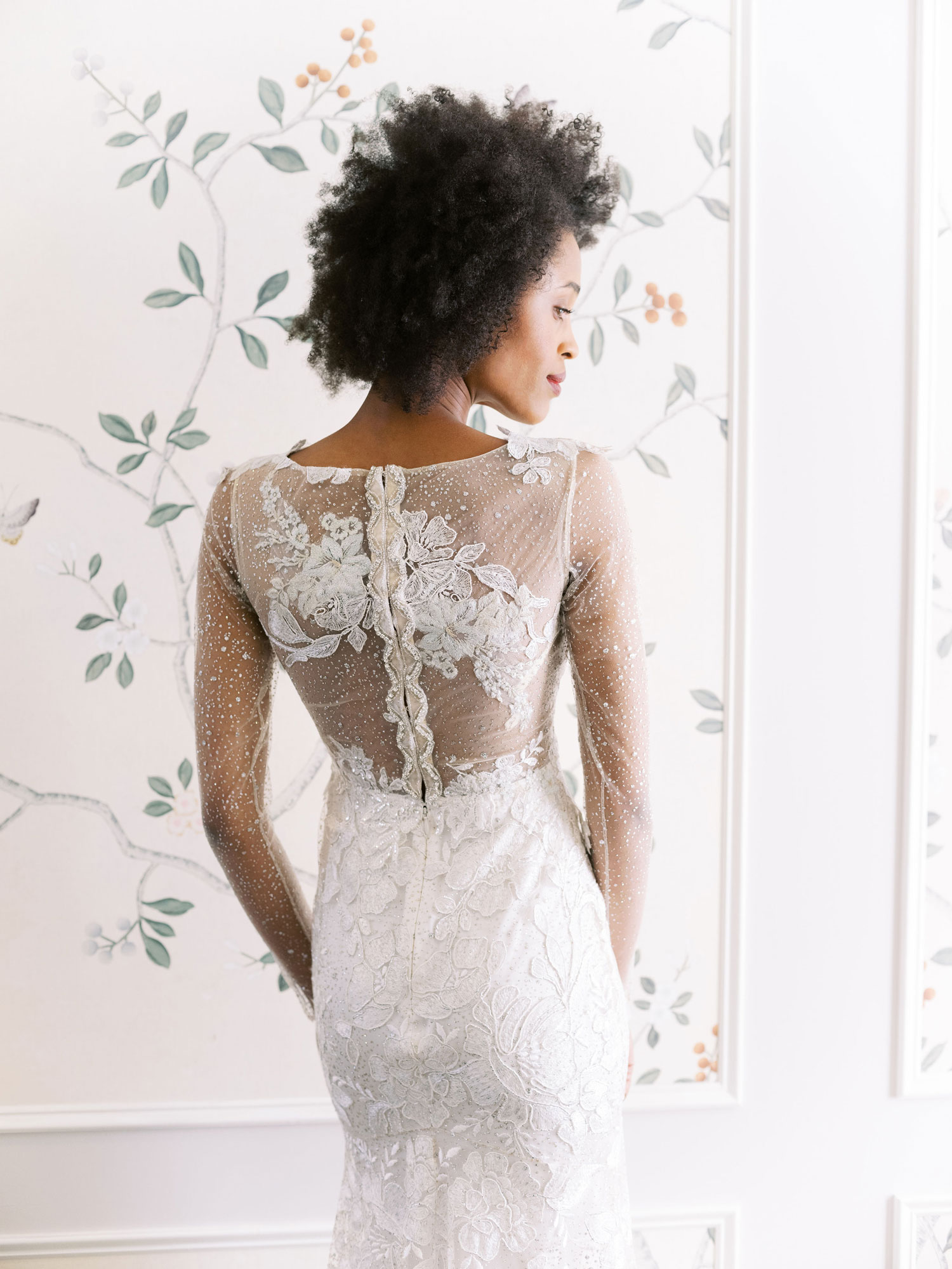 Claire Pettibone Evolution 2020 bridal collection Stardust wedding dress sparkle back