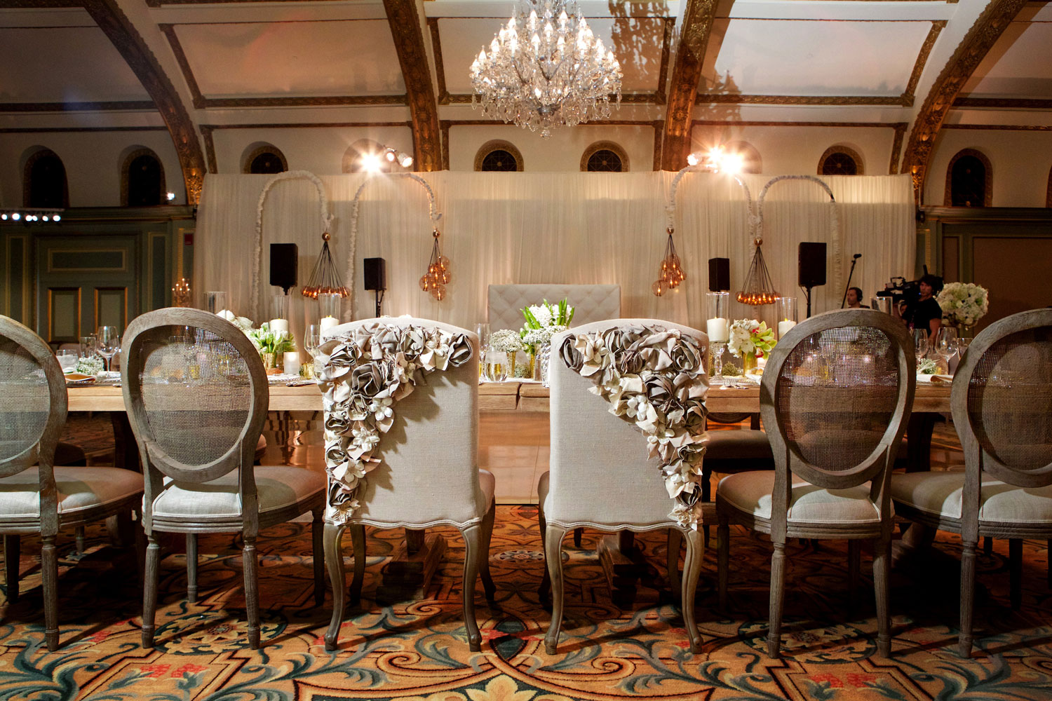ashley hebert and jp rosenbaum the bachelor wedding reception bride groom chairs