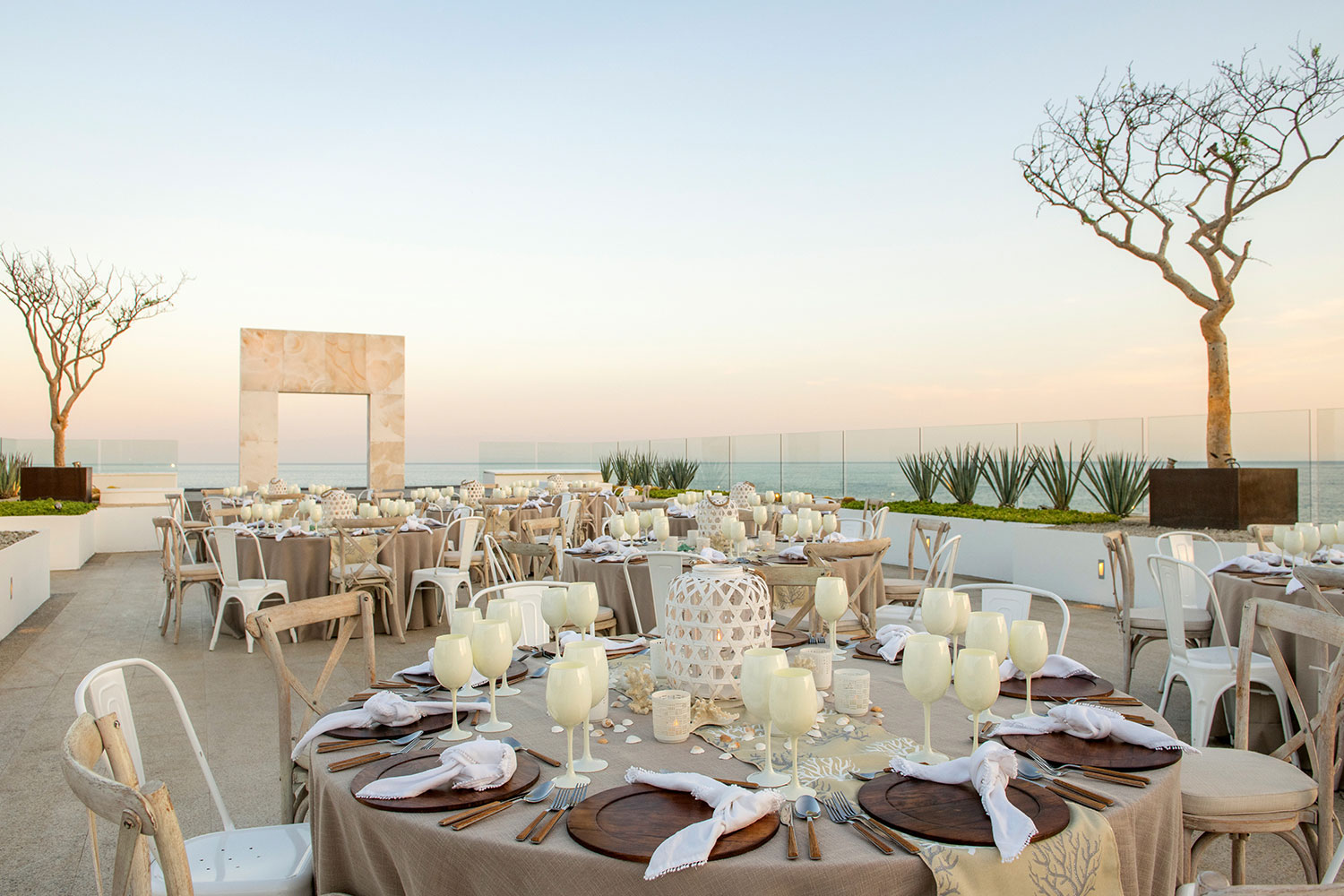 Le Blanc Spa Resort destination wedding venue in Mexico ocean view reception outdoor