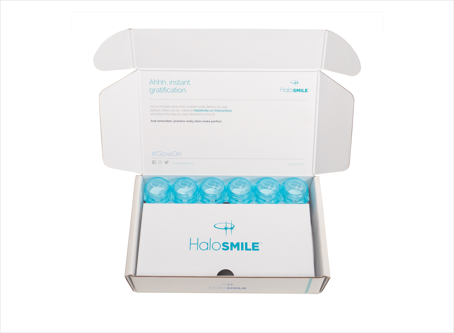 HaloSmile Kit instant teeth whitening kit for day use makeup for your teeth