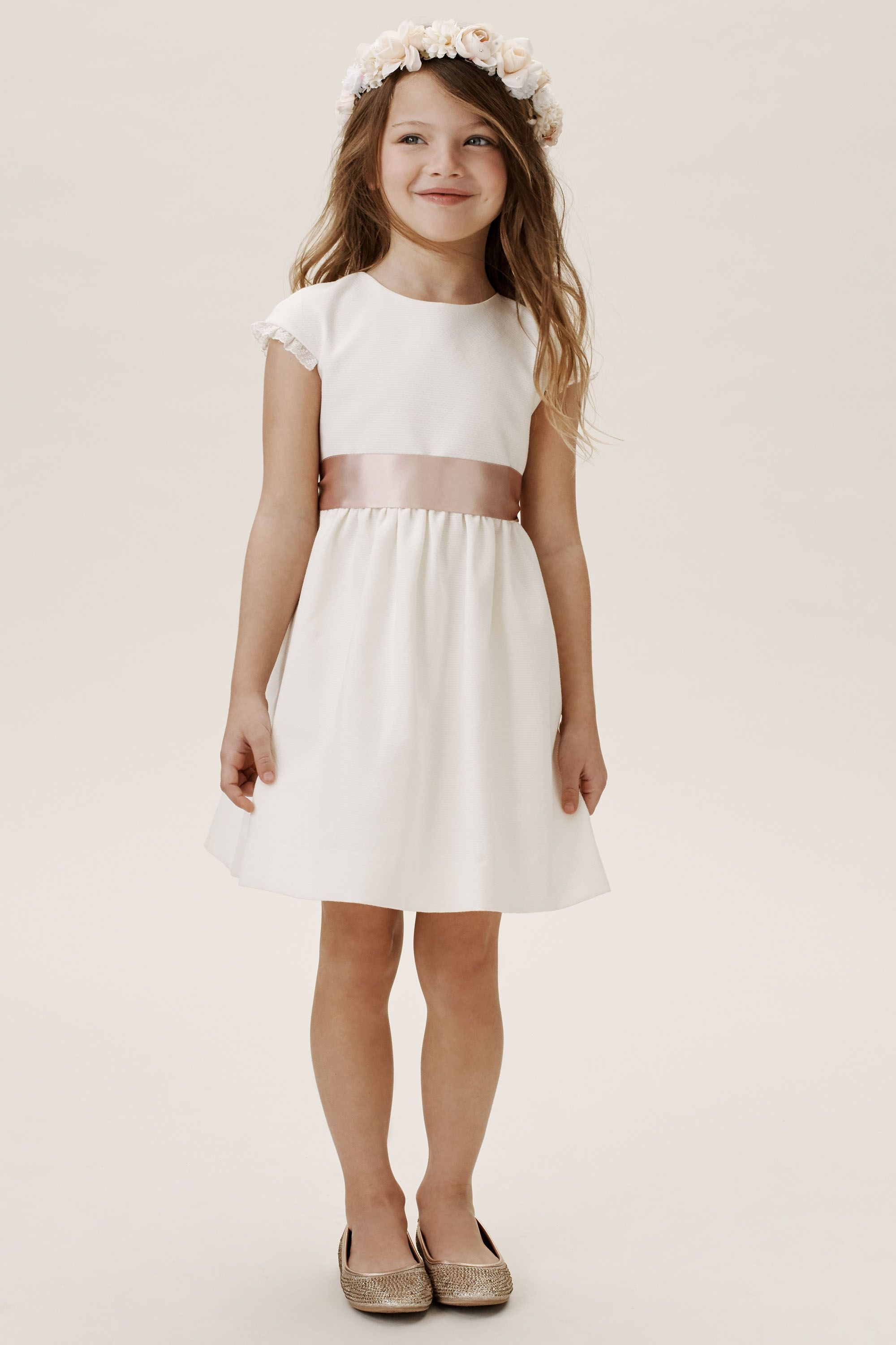 cute casual flower girl dress ideas Fitz cap sleeve dress from BHLDN
