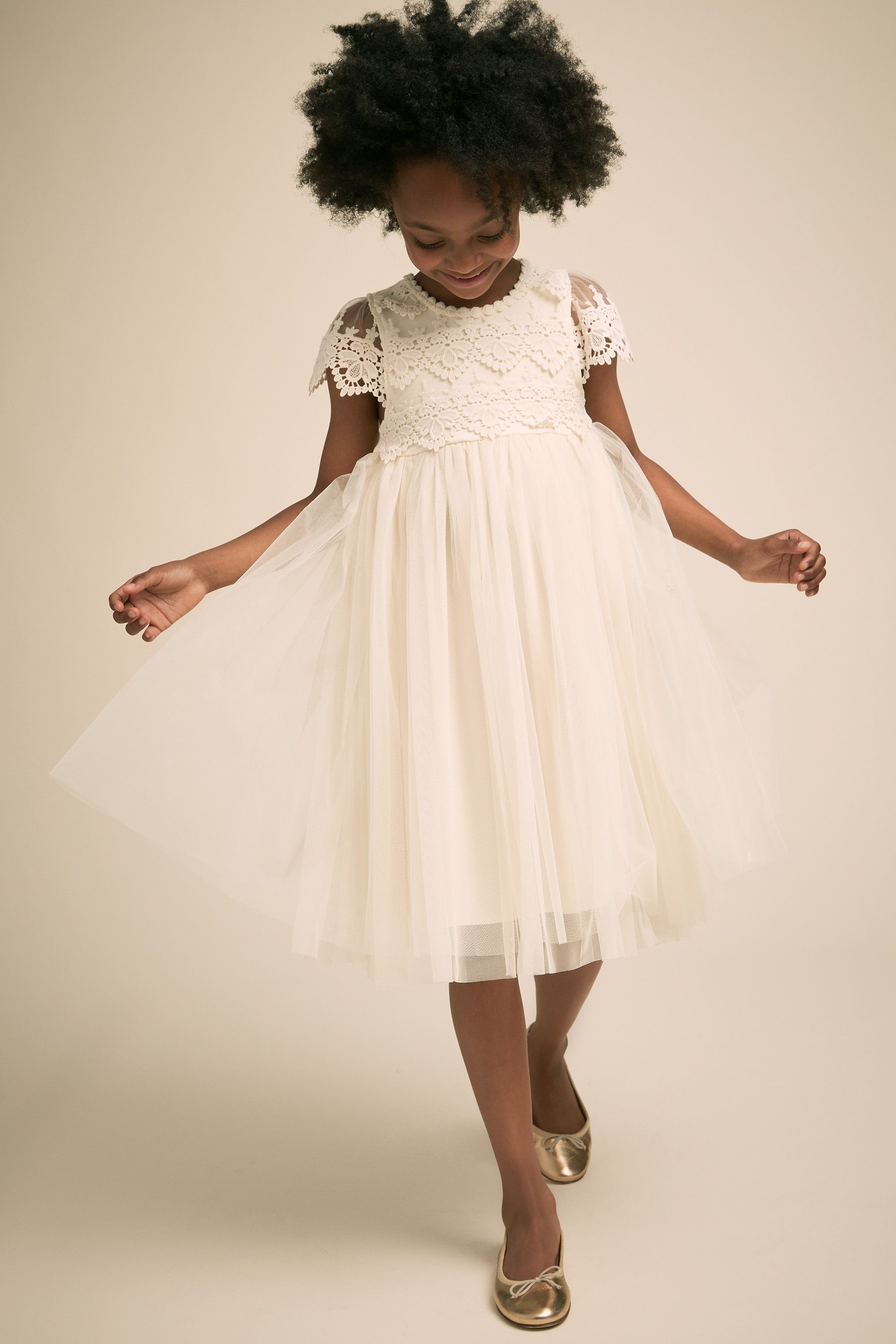 Flower girl dress ideas Kala ivory flower girl dress from BHLDN