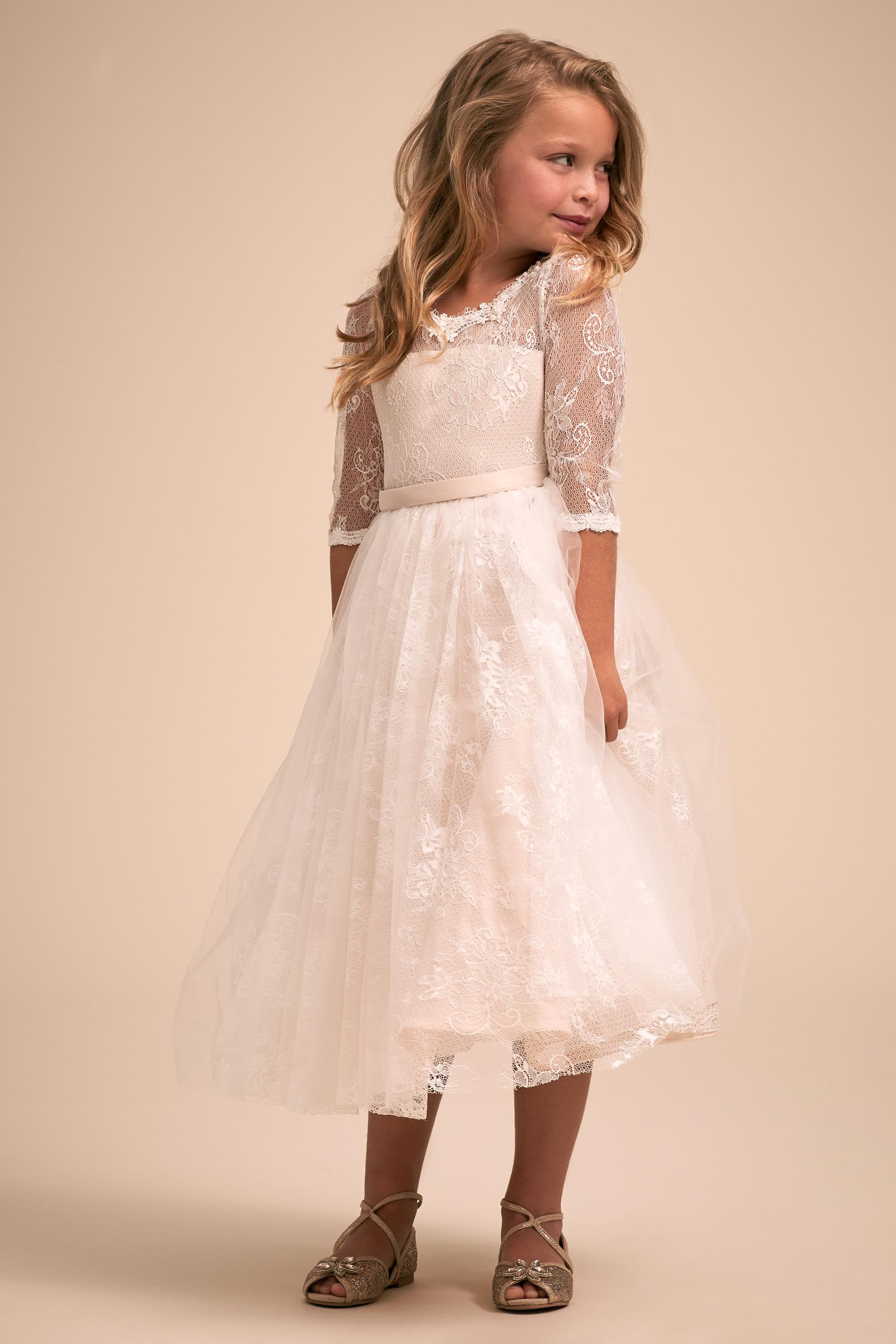 flower girl dress ideas Liana lace flower girl dress from BHLDN
