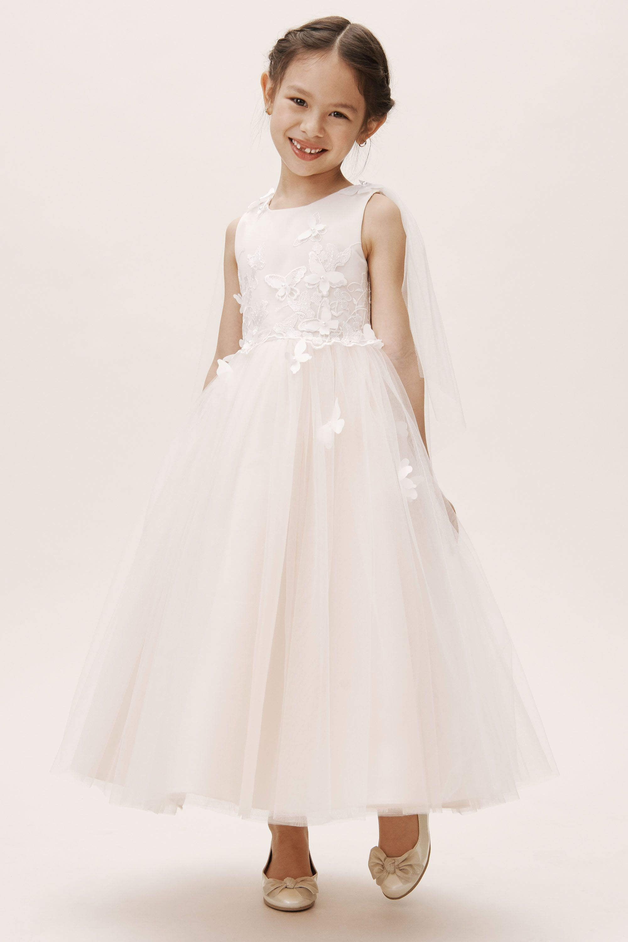 flower girl dress ideas Wanda butterfly applique flower girl dress from BHLDN
