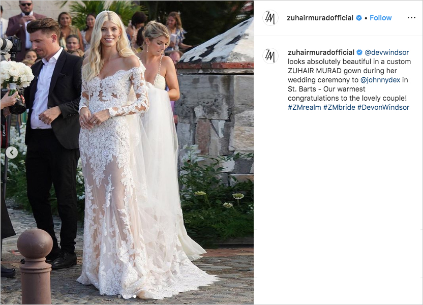 model devon windsor zuhair murad wedding dress