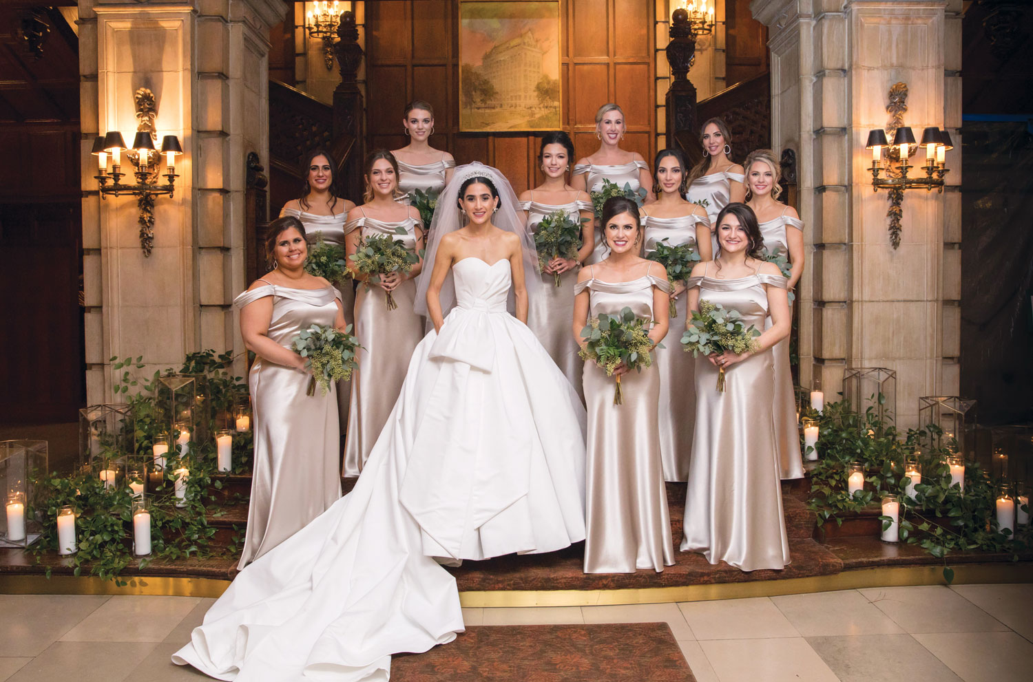 Inside Weddings magazine winter 2020 issue preview winter wedding party ideas bridesmaids michelle durpetti events