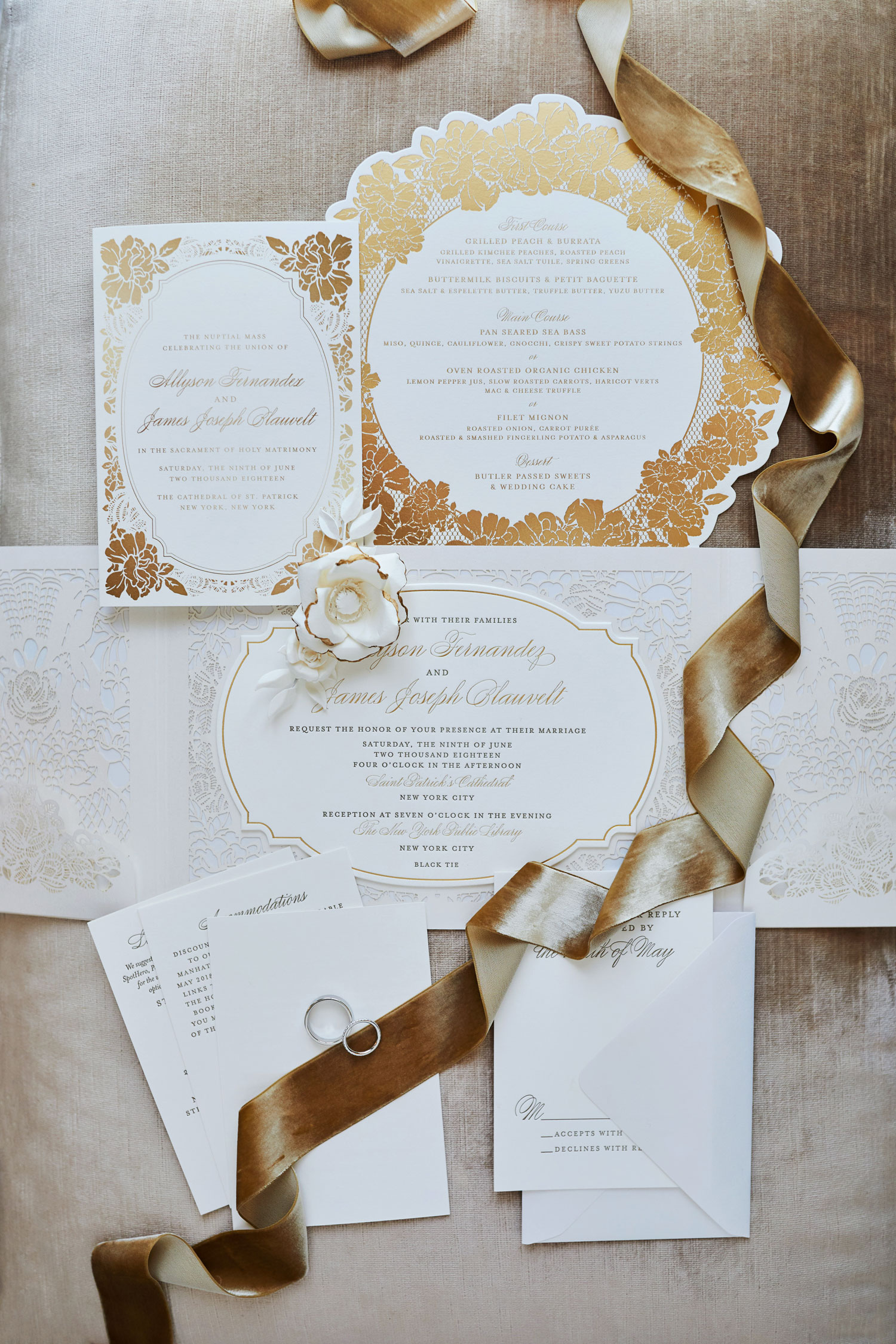 sophisticated wedding invitation with fall inspired color palettes