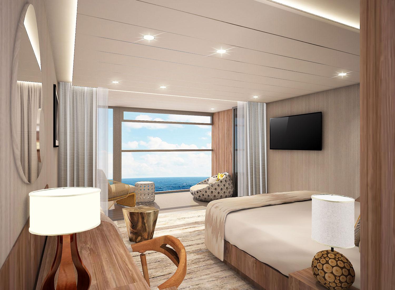 Celebrity Flora Sky Suite with Veranda luxury cruise galapagos islands honeymoon ideas