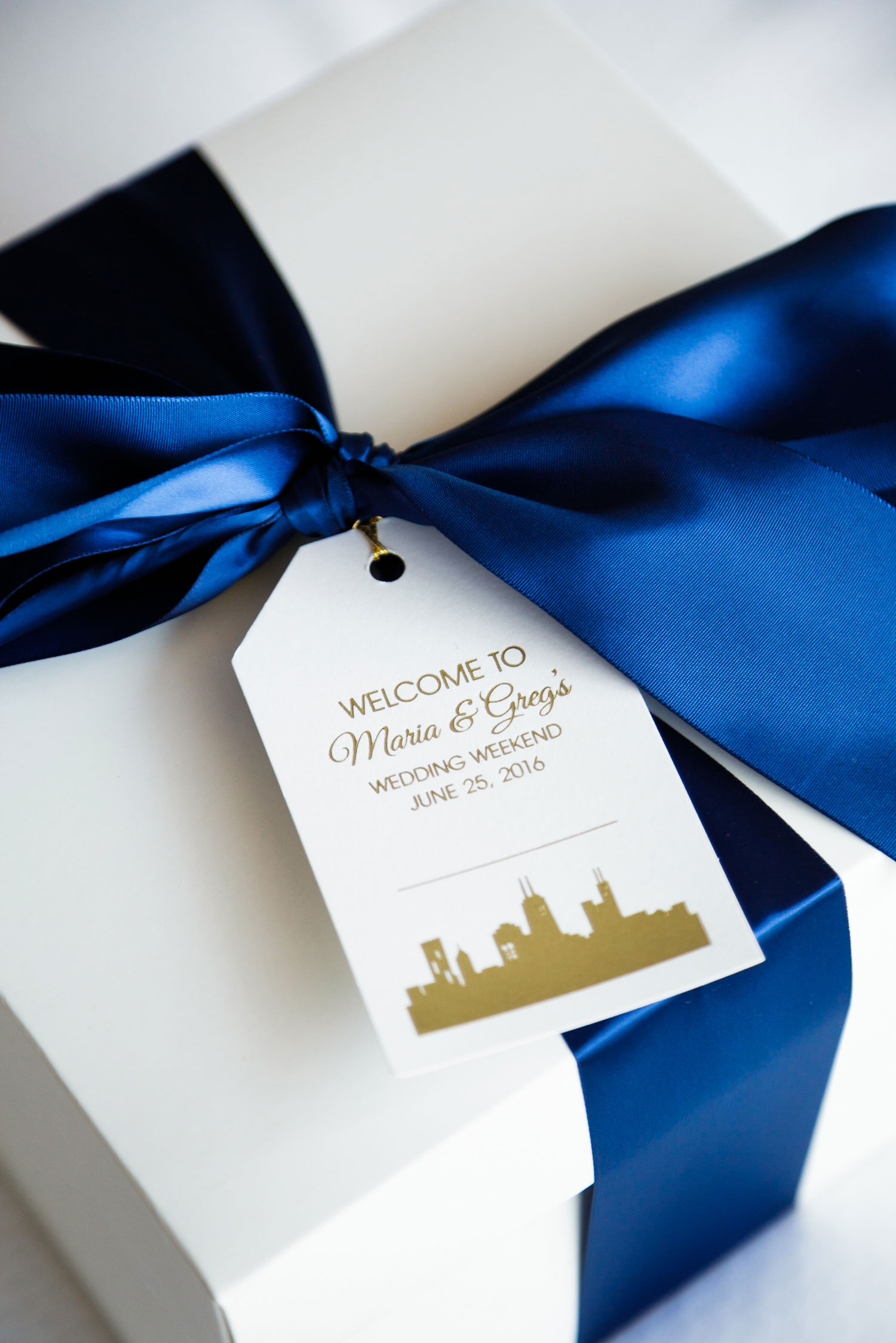pantone color of the year 2020 classic blue wedding ideas blue ribbon wedding welcome box