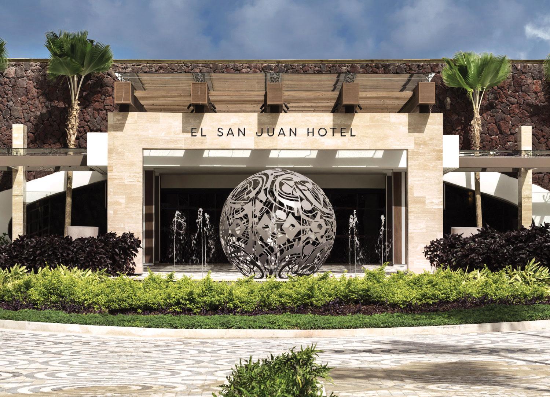Puerto Rico destination wedding and honeymoon travel ideas el san juan hotel entrance