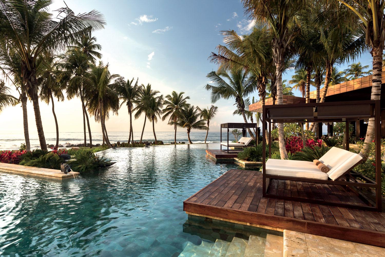 Puerto Rico destination wedding and honeymoon travel ideas dorado beach ritz carlton reserve pool cabana