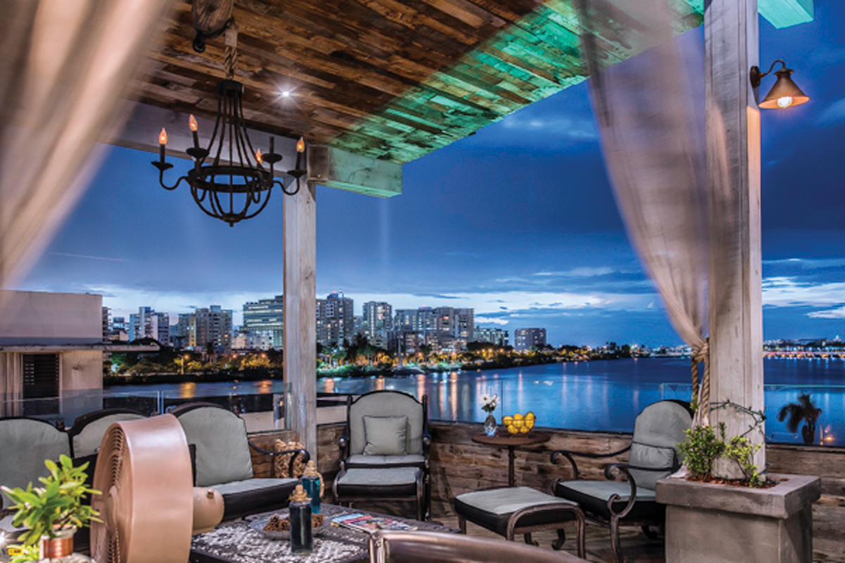 Puerto Rico destination wedding and honeymoon travel ideas olive boutique hotel rooftop corner