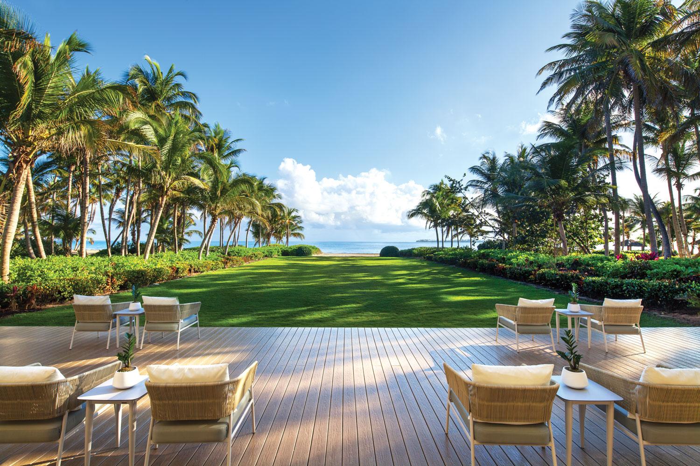 Puerto Rico destination wedding and honeymoon travel ideas st regis bahia beach estate lawn