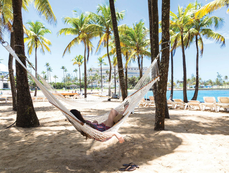 Puerto Rico destination wedding and honeymoon travel ideas caribe hilton beach hammocks