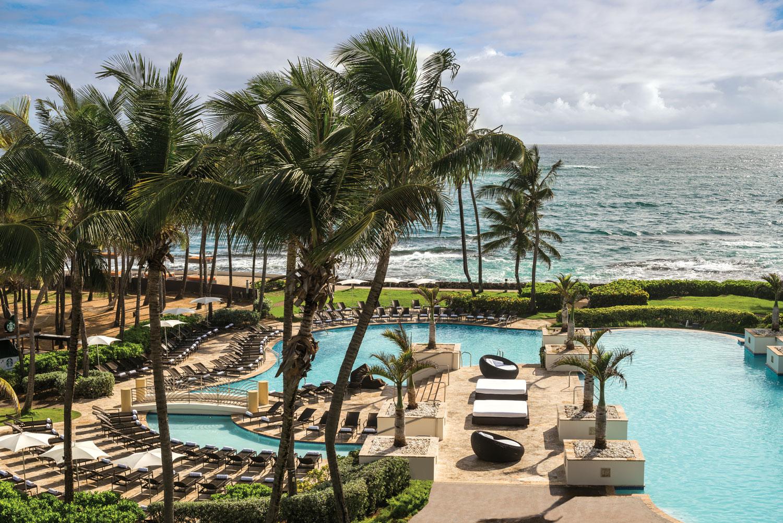 Puerto Rico destination wedding and honeymoon travel ideas caribe hilton pools