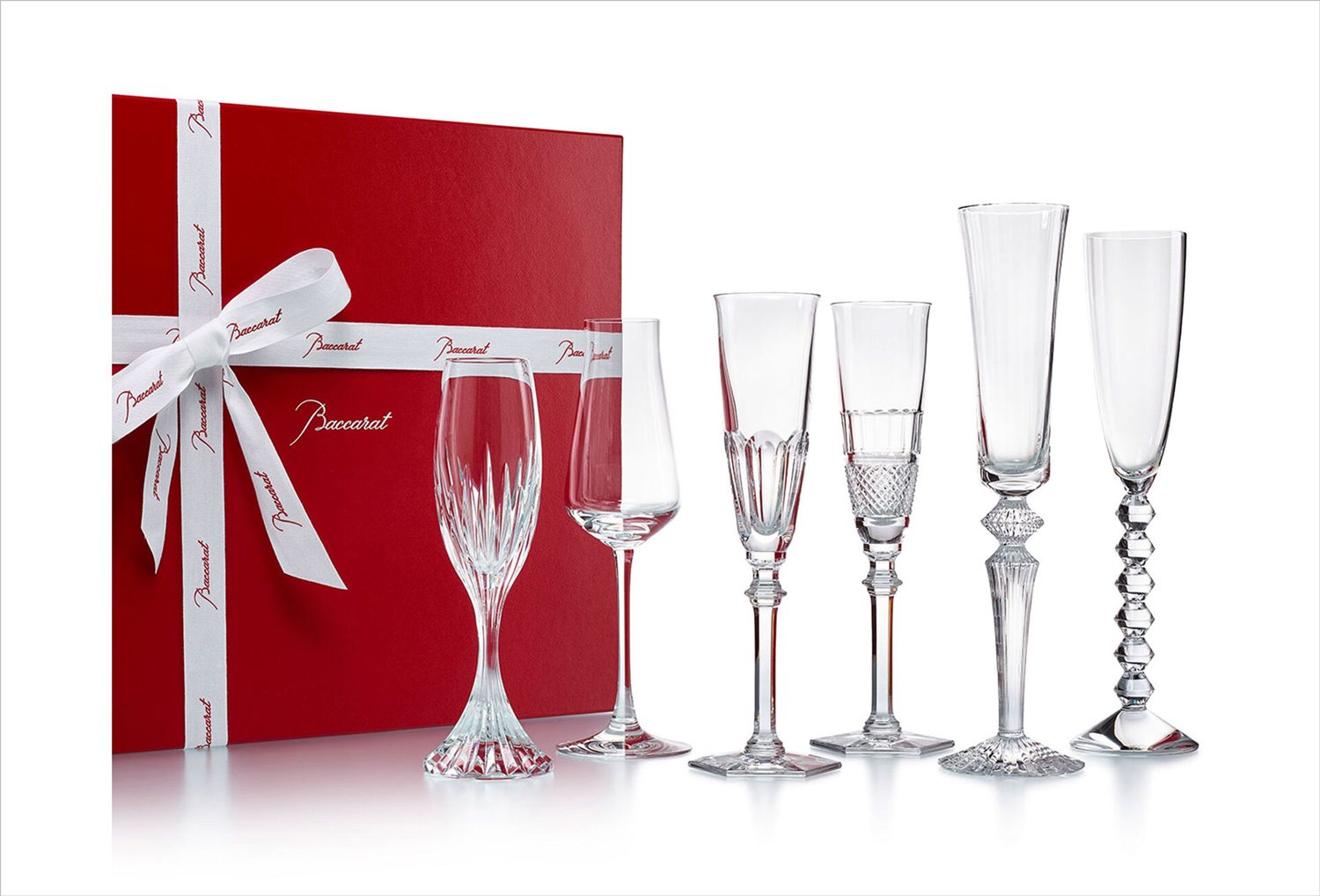 baccarat bubbles in a box champagne flute glasses set of six gearys holiday registry ideas