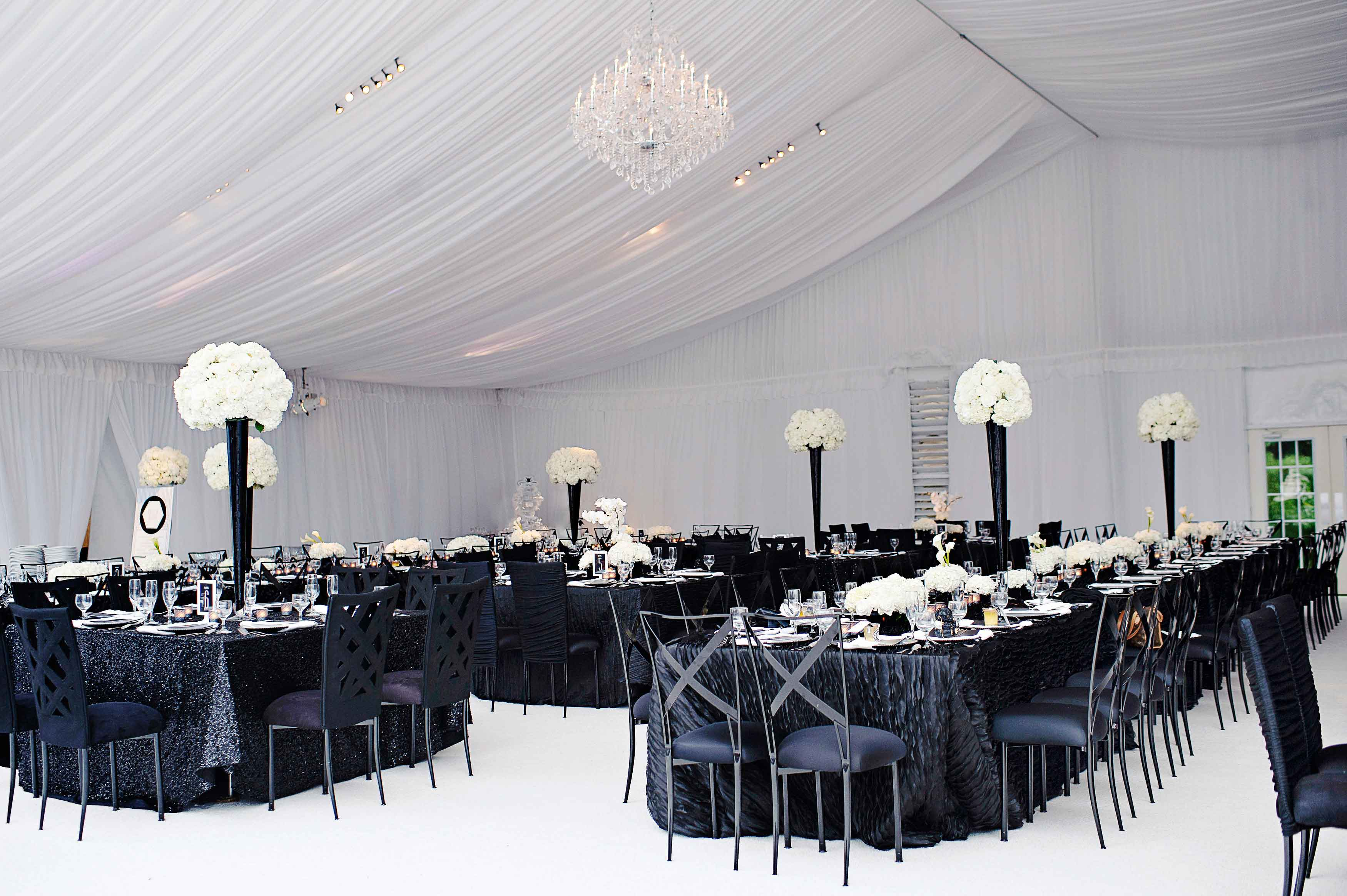 black and white tent real wedding 2019 popular real weddings