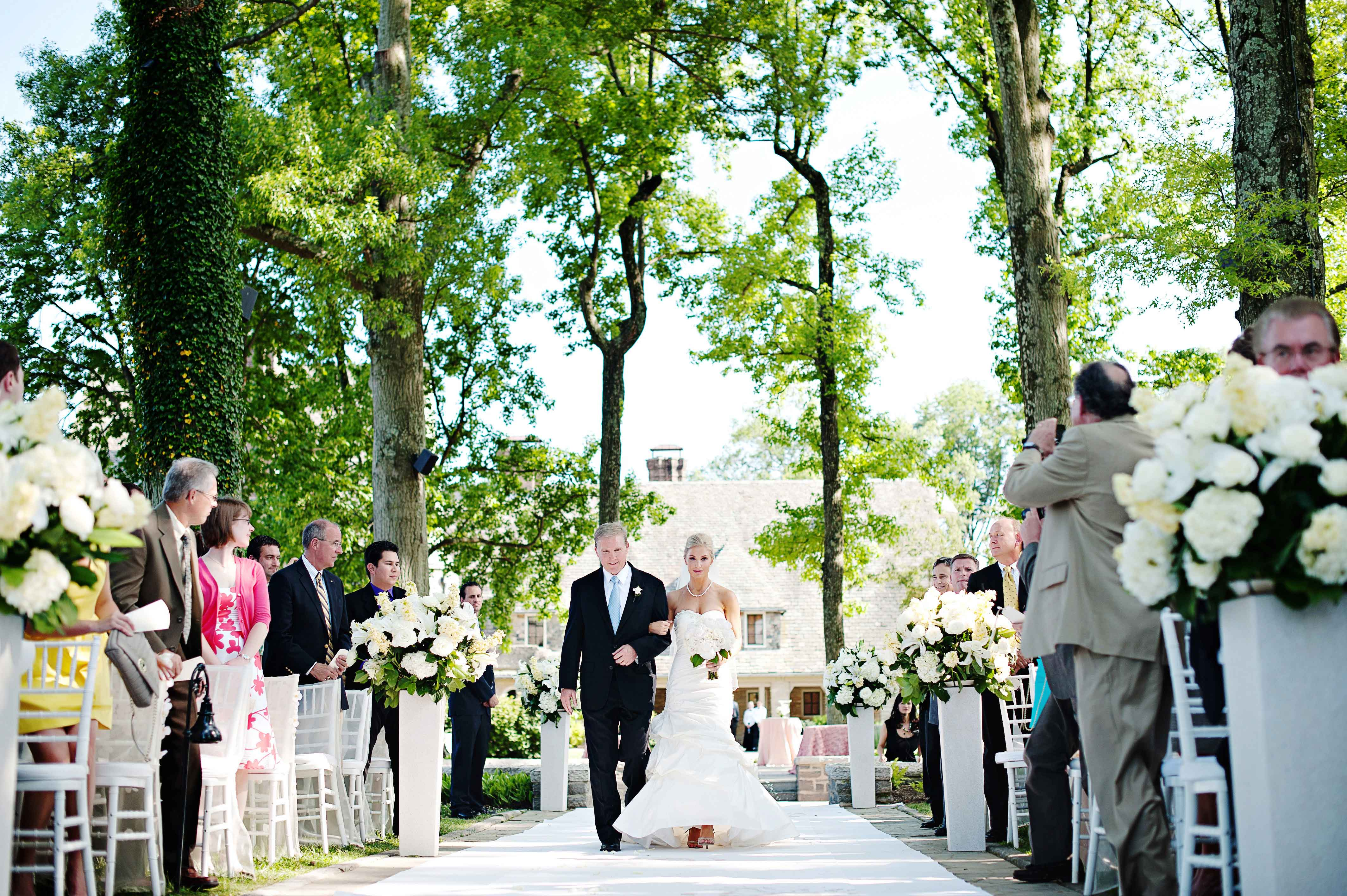 outdoor wedding ceremony timeless color palette 2019 popular real weddings