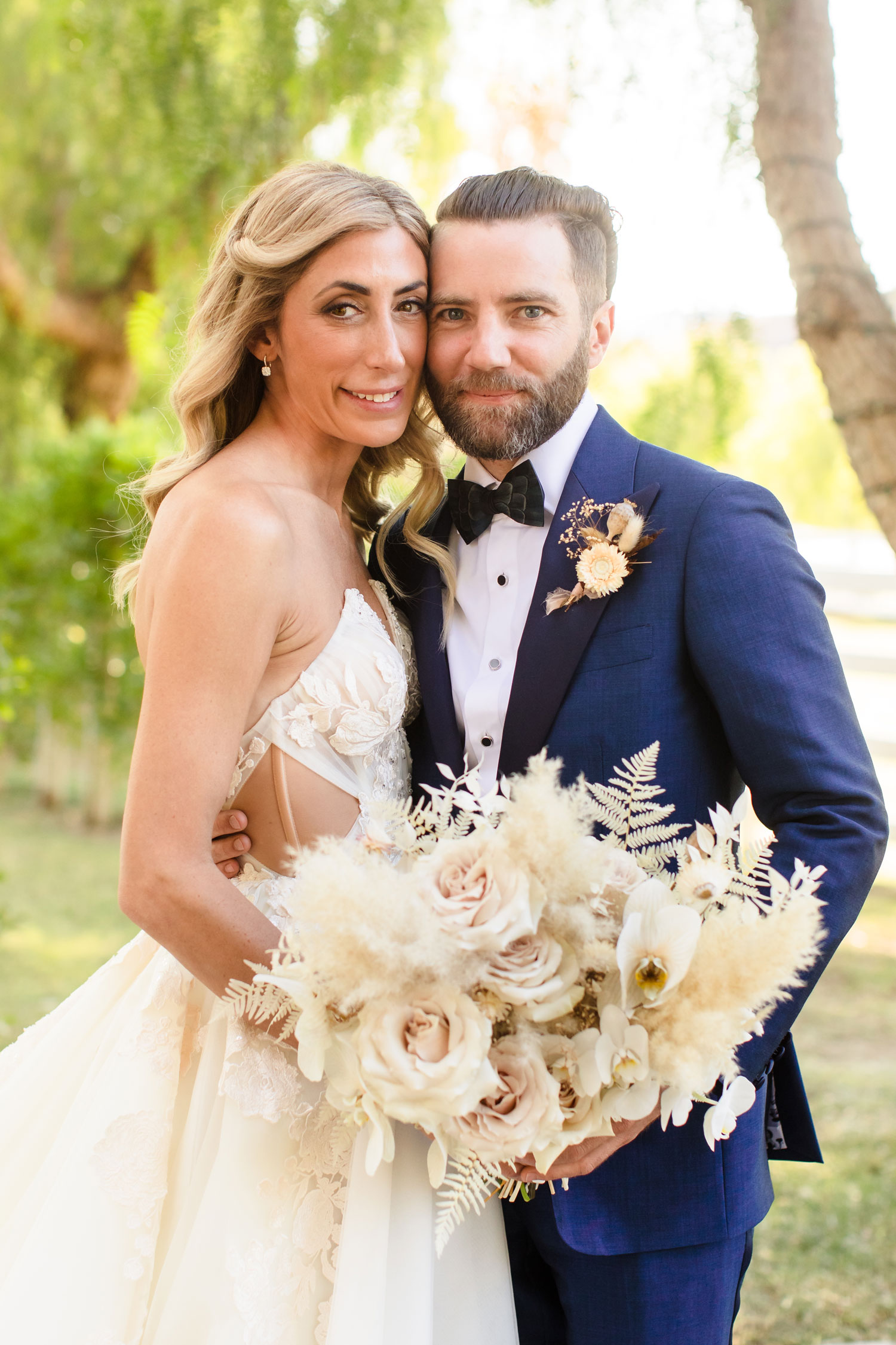 Top Chef Marcel Vigneron and Lauren Rae Levy real wedding planned by Tessa Lyn Events bride and groom portrait
