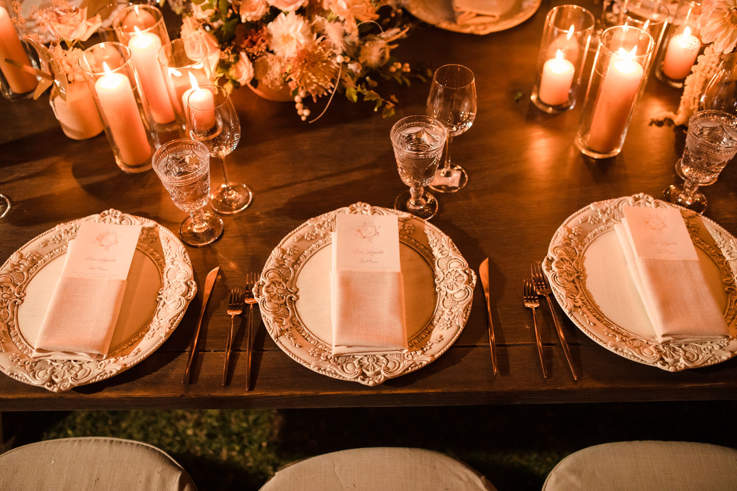 Top Chef Marcel Vigneron and Lauren Rae Levy real wedding planned by Tessa Lyn Events wedding reception table